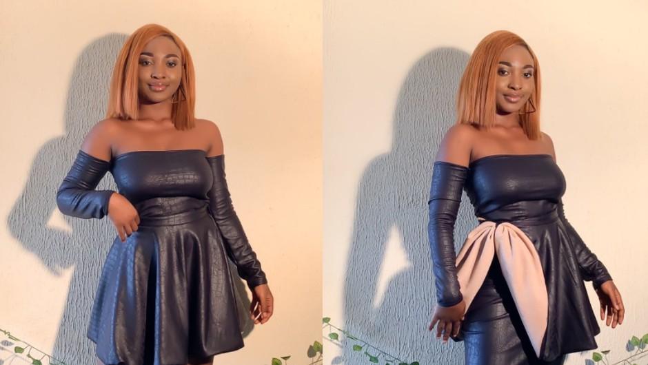 Internet se navdušuje nad dizajnersko obleko, ki se lahko nosi na kar 5 načinov (foto: Twitter: @just_oyinda)