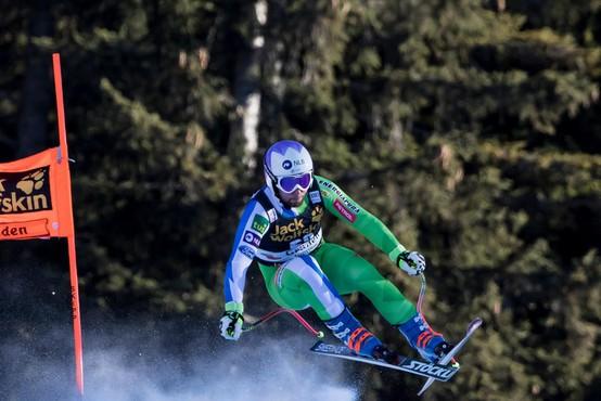 Martin Čater s številko 41 do presenetljive smukaške zmage v Val d'Iseru