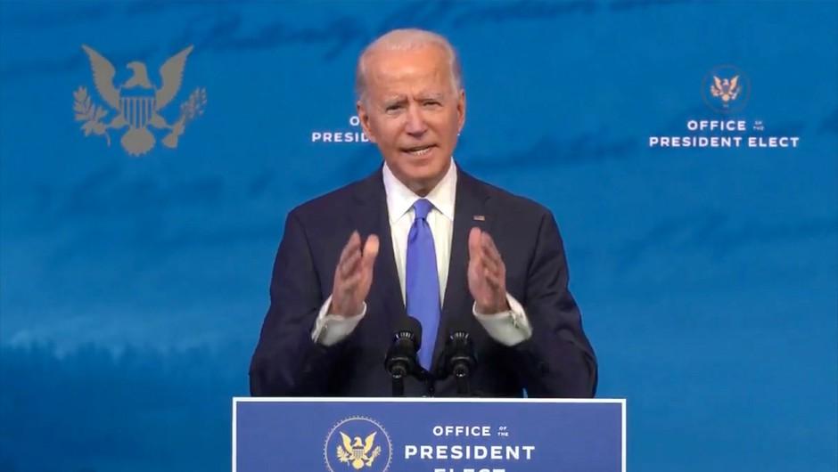 Biden po potrditvi zmage prvič ostro napadel Trumpa in ga obtožil napada na ameriško demokracijo (foto: Profimedia)