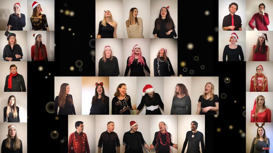 [VIDEO]:  Perpetuum Jazzile presenetili z edinstveno izvedbo skladbe White Christmas (foto: YouTube: @ Perpetuum Jazzile)