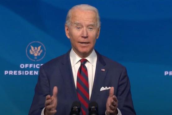 Joe Biden: Potrebujemo enoten odziv države na podnebne spremembe