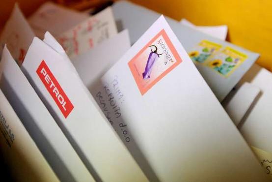 Z januarjem delitev pisemskih pošiljk glede na vsebino