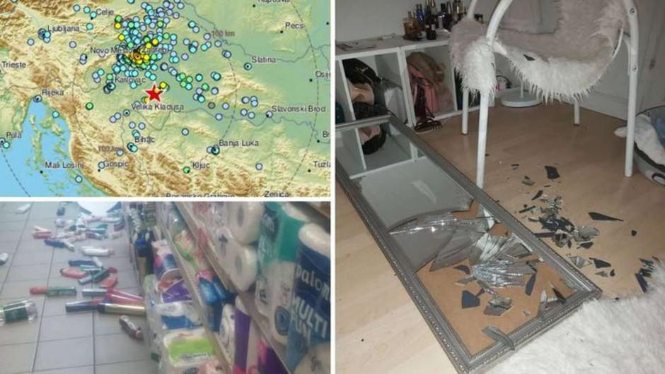 Močan potres z magnitudo 5,2 zjutraj stresel širše območje Zagreba (foto: STA)