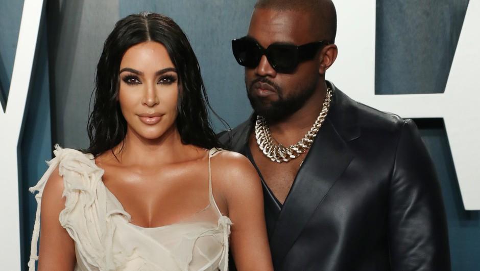 Kanye West in Kim Kardashian naj bi živela ločeno (foto: Profimedia)