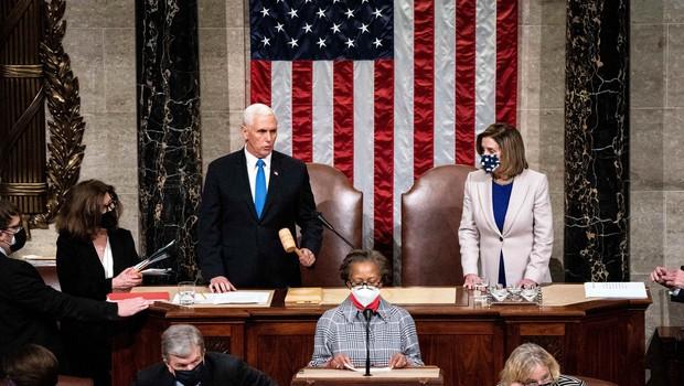 Ameriški kongres potrdil zmago Bidna; Trump: Prišlo bo do mirnega prenosa oblasti (foto: Profimedia)
