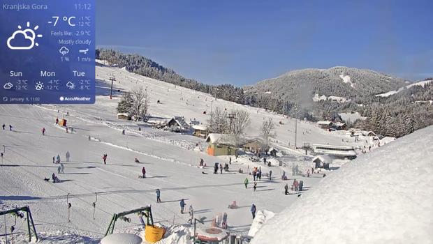 Snežna pravljica na Gorenjskem privablja množice, ki domačinom povzročajo preglavice (foto: Spletna kamera/kranjska-gora.si)