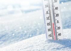 Tako mrzlo jutro je bilo nazadnje februarja 2018, podobno bo tudi v petek