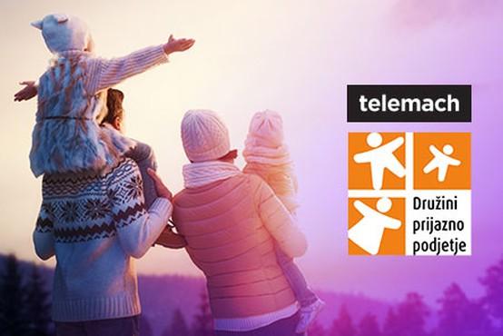 Telemach s certifikatom Družini prijazno podjetje