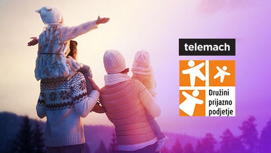 Telemach s certifikatom Družini prijazno podjetje (foto: Telemach)