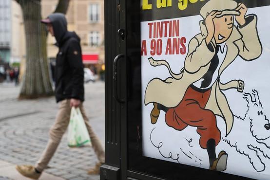Prvo naslovnico stripa o Tintinovih dogodivščinah na dražbi prodali za 3,2 milijona evrov