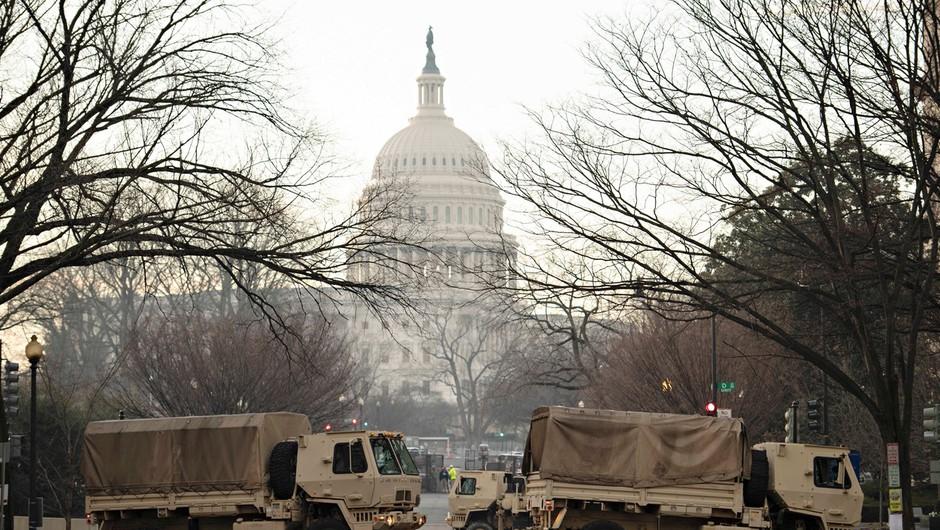 Pred inavguracijo novega ameriškega predsednika poostrena varnost po vsej državi (foto: profimedia)