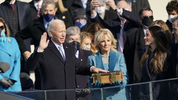 Joe Biden prisegel kot 46. predsednik ZDA (foto: Profimedia)