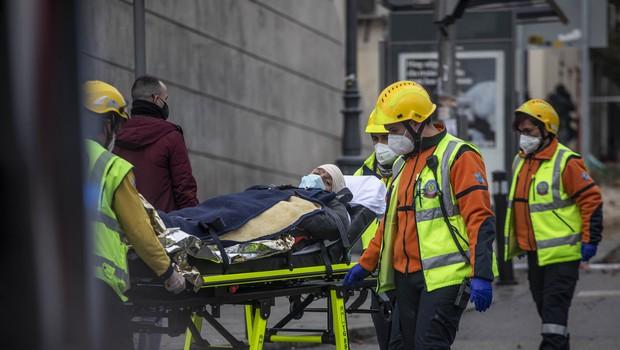 V Madridu v eksploziji uničena večnadstropna stavba (foto: Profimedia)