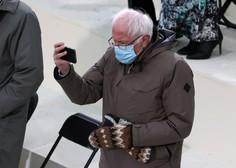 Toplo orokavičen Bernie Sanders na inavguraciji postal viralni MEME