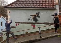 Dela nepredvidljivega uličnega umetnika Banksyja spet na dražbi