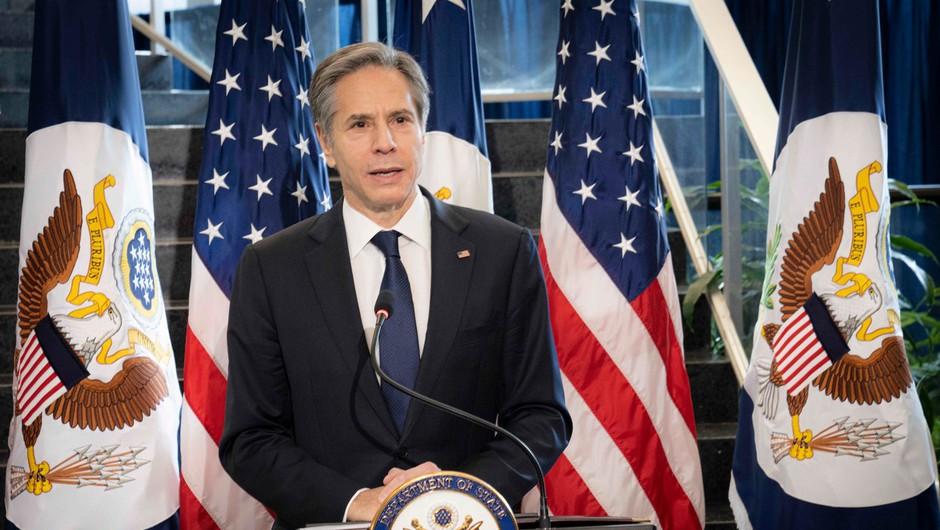 Novi državni sekretar ZDA Blinken na prvi novinarski konferenci kritično do Rusije, Irana in Kitajske (foto: Profimedia)