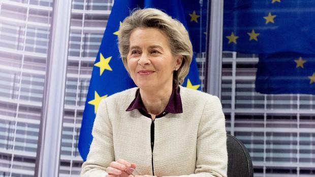 Ursula von der Leyen na pogovor z direktorji farmacevtskih podjetij (foto: profimedia)