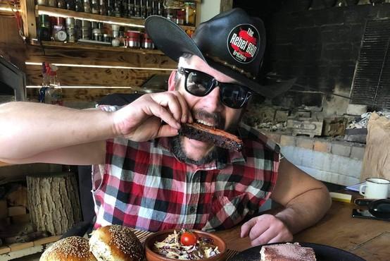"""Simon Ceglar: """"Burger zna pripraviti vsak, zares dobro BBQ hrano pa le malo kdo!"""""""