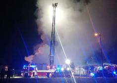 V Kranju požar uničil objekt s trgovino, lokalom in vrtcem