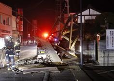 Japonsko je znova stresel močan potres, milijon gospodinjstev brez elektrike