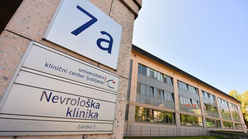 Na nevrološki kliniki v času epidemije manj bolnikov z lažjimi možganskimi kapmi (foto: Tamino Petelinšek/STA)