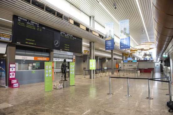 Slovenija med evropskimi državami z največjim padcem letalskega potniškega prometa