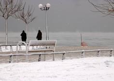 Grčijo zajelo obilno sneženje, kakršnega ne pomnijo že več let