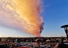 Ognjenik Etna na Siciliji ponovno izbruhnil (foto in video)