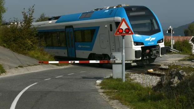 Lani varnostno urejenih 33 nivojskih železniških prehodov (foto: Tamino Petelinšek/STA)