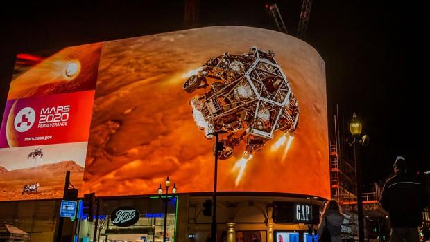 Videoposnetek dramatičnega pristanka roverja Perseverance na Marsu (foto: Profimedia)