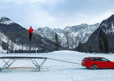 Dunking Devils in Danfoss skupaj ustvarili prvi trampolin na smučeh