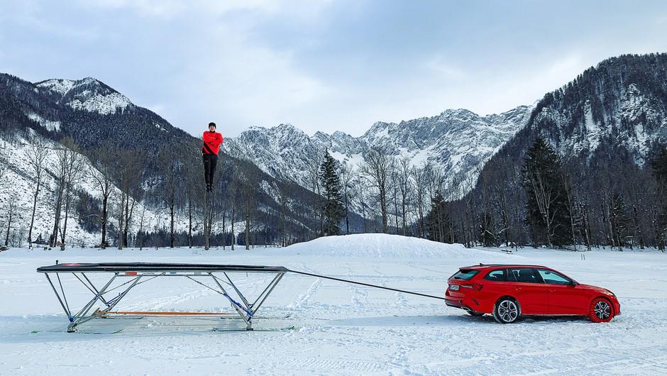 Dunking Devils in Danfoss skupaj ustvarili prvi trampolin na smučeh (foto: Dunking Devils Press)