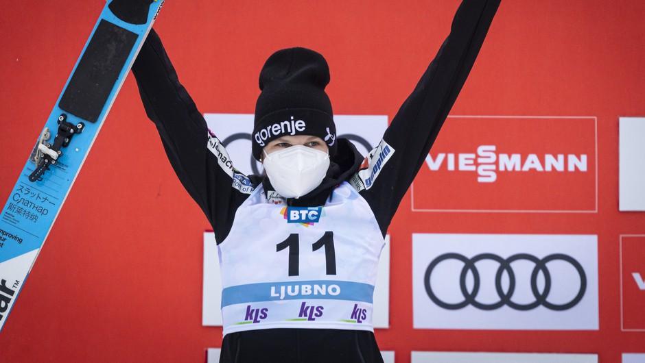 Ema Klinec svetovna prvakinja v Oberstdorfu (foto: Smučarska zveza Slovenije)