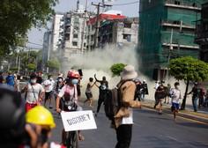 Mjanmarska vojska še z večjo silo nad protestnike, odpoklicali veleposlanika v ZN
