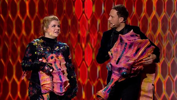 V šovu Kdo si ti? so se pod maskami skrivali Rok Ferengja, Emkej in Neisha (foto: Planet TV/ Kdo si ti?)