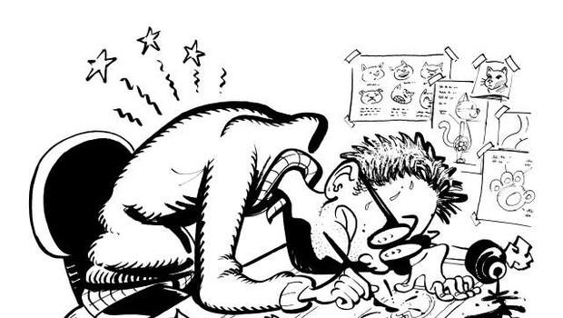 Gašper Rus: Strip nas lahko trenutno spomni na življenje pred epidemijo (foto: Gašper Rus)