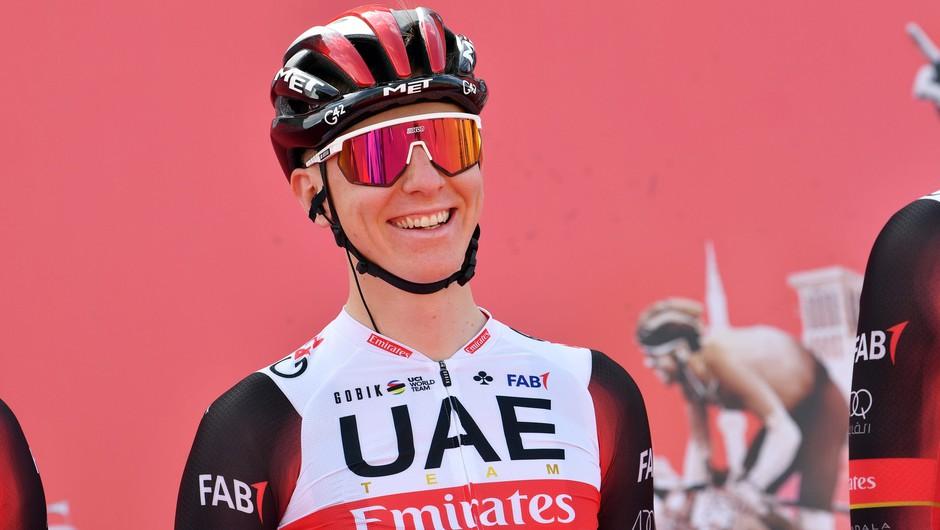 Pogačar podaljšal sodelovanje s svojo ekipo UAE Team Emirates do leta 2026 (foto: Profimedia)