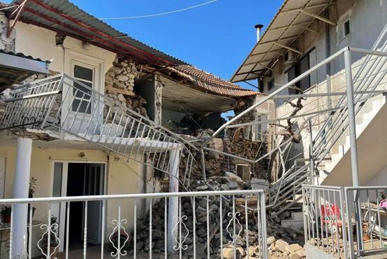 Grčijo stresel močan potres z magnitudo 6,3