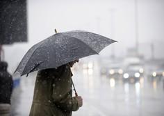Čez noč bo Slovenijo prešla hladna fronta z nevihtami, ponekod sneg do nižin
