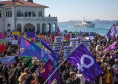 Turške ženske znova na ulicah s pozivom predsedniku, naj prekliče izstop iz istanbulske konvencije
