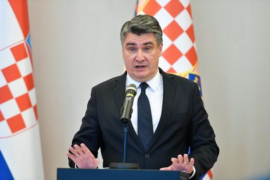 """Besedna vojna v hrvaškem političnem vrhu, predsednik Milanović označen kot """"koktejl psihičnih motenj"""""""