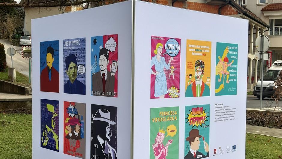 Barvite in duhovite podobe Pop art Josip (foto: Nuša Ofentavšek)