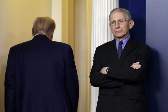 """""""Ko je Trump kot predsednik podprl proteste proti covid ukrepom, mi je vzelo sapo,"""" pravi Fauci"""
