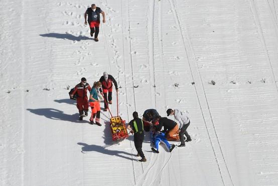 Norveški skakalec Daniel Andre Tande po hudem padcu v Planici spet doma