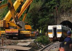 Na Tajvanu žalujejo za žrtvami železniške nesreče, upravnik gradbišča se je čustveno zlomil
