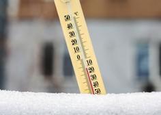 Najhladnejšo aprilsko jutro v zadnjih 70 letih, padel je tudi aprilski rekord