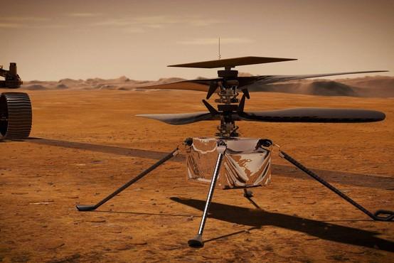 Nasa zaradi tehničnih težav preložila prvi polet helikopterja Ingenuity na Marsu