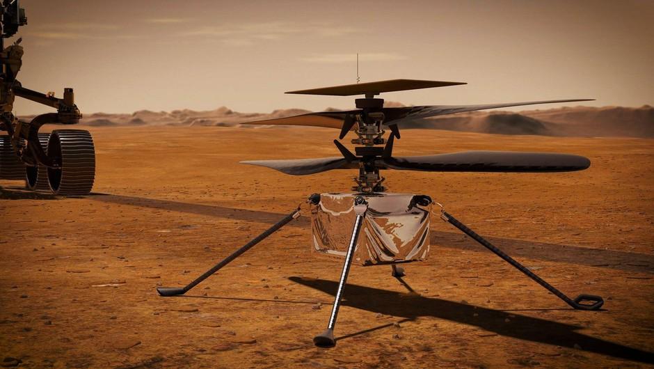 Nasa zaradi tehničnih težav preložila prvi polet helikopterja Ingenuity na Marsu (foto: profimedia)