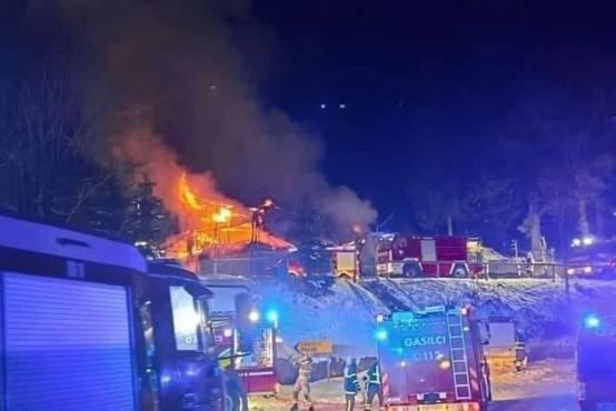 Dom na Osankarici zagorel najverjetneje zaradi dotrajanega dimnika