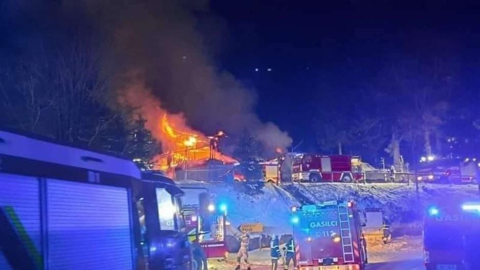 Dom na Osankarici zagorel najverjetneje zaradi dotrajanega dimnika (foto: bistričan.si)